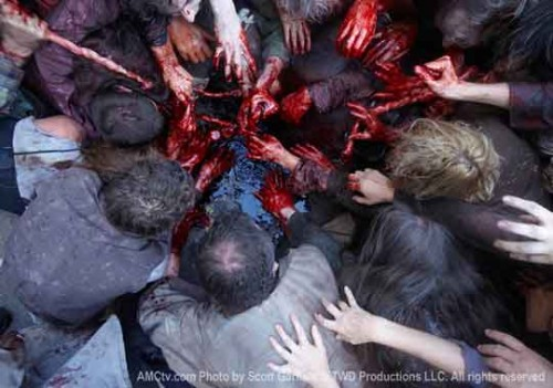 the walking dead gore