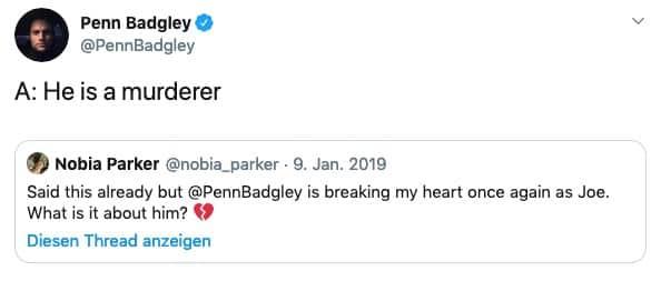 ou - Staffel 2: Tweet von Badgley 2
